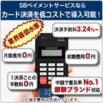クレジットカード決済導入なら、今 !! SBペイメントサービスのモバイル型端末