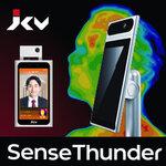 店舗の感染症対策に最適 !! JCVのAI温度検知タブレット「SenseThunder」