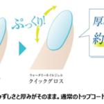 <新商品>「無臭」「速乾」「ライト不要」水成分42%配合 爪にやさしいネイルジェル 自爪用クリアコート誕生