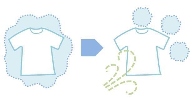 洗濯物の周囲の湿った空気を動かすと乾きやすい。