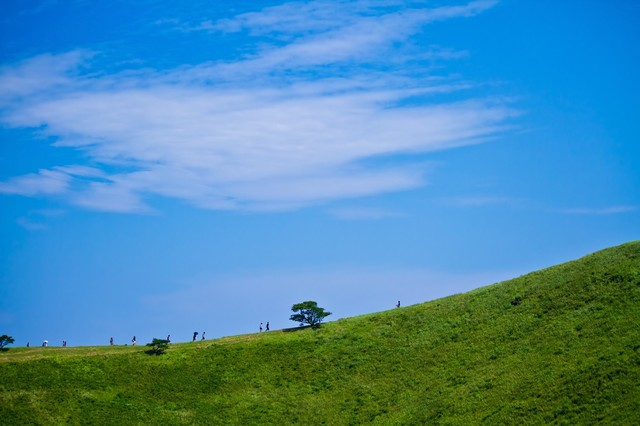 大室山の頂上|フリー写真素材・無料ダウンロード-ぱくたそ (716)
