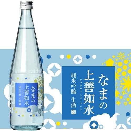 Amazon.co.jp: 白瀧酒造 なまの上善如水 純米吟醸 720ml: 食品・飲料・お酒 (4025)