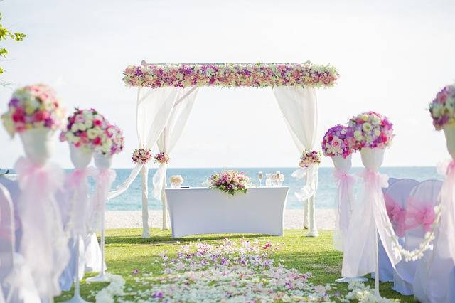 Flower Archway Beach Wedding - Free photo on Pixabay (12094)