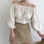 夏ファッションは韓国女子を参考に☆女子力溢れるオフショルブラウスコーデ♡