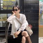「バイカーパンツ」を韓国っぽく着こなしたいなら…!韓国女子のコーデを参考に⸝⋆