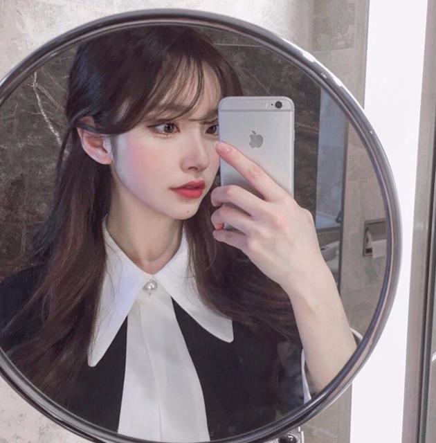 """김나희 on Instagram: """"겨울에 앞머리 내렸을때 👀"""" (34609)"""