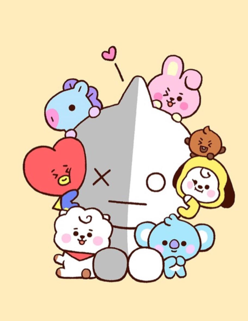 """BT21 on Instagram: """"UwU 😚 Come and Meet these cutie pies in Gangnam!  FIND OUT MORE 🔍 LINK IN BIO . 📍 437, Gangnam-daero, Seocho-gu, Seoul . . ✔Get them on our…"""" (95557)"""