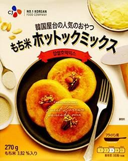 CJ 韓国屋台の人気のおやつ もち米 ホットックミックス (韓国式ホットケーキの素) 270g | (21648)