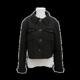 ボタンポイントフリンジツイードジャケット  |  レディース・ガールズファッション通販サイト - STYLENANDA (196803)