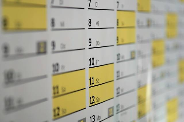 Calendar Wall Days - Free photo on Pixabay (1997)