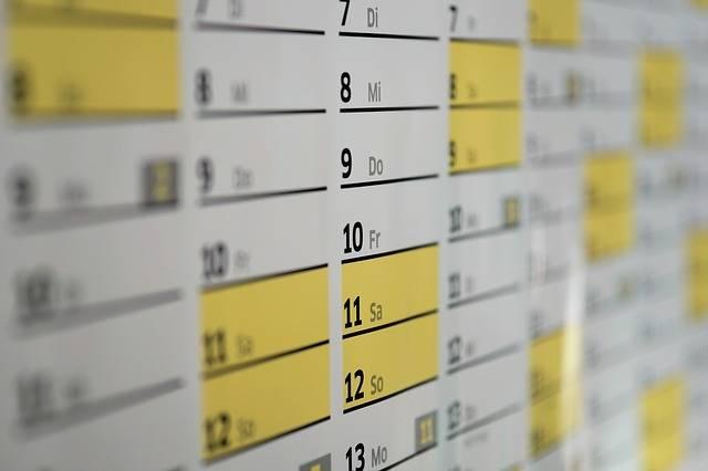 Calendar Wall Days - Free photo on Pixabay (1997)