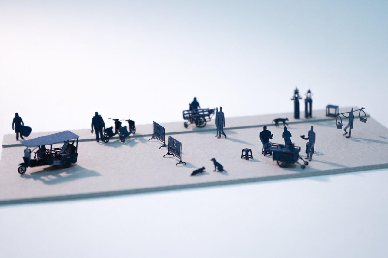 1/100の世界で想像を膨らませる。テラダモケイ「1/100建築模型用添景セット」