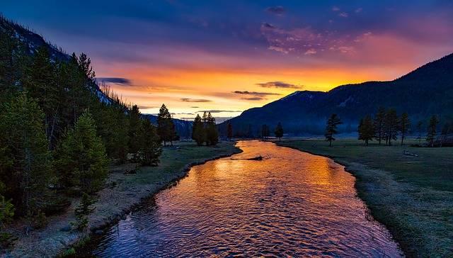 Yellowstone National Park Sunset · Free photo on Pixabay (1399)