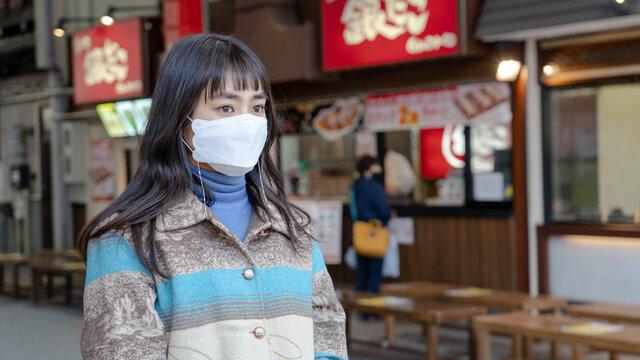 1、マスクをする