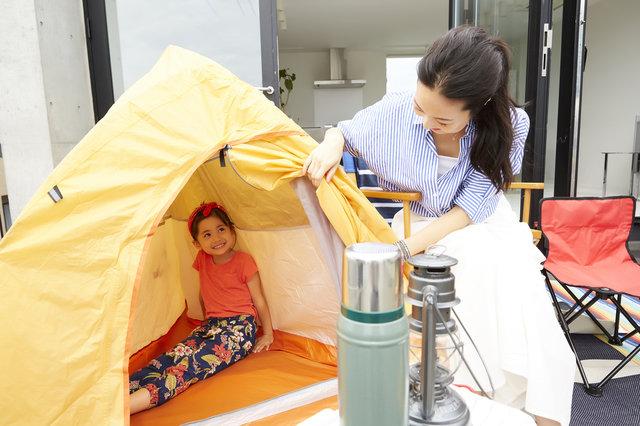 おうちキャンプが大人気!テントを立てて自宅で簡単アウトドア体験をしよう!