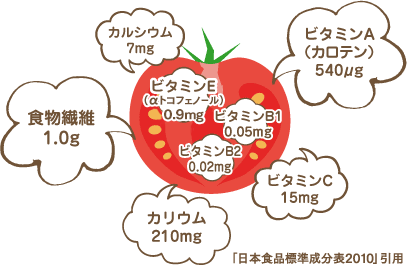 トマトの栄養 | ナガノトマト (7230)