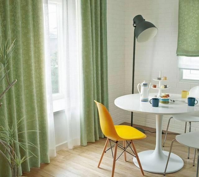 川島織物セルコン オーダーカーテン ME2344 (植物柄を伸びやかに表現した遮光カーテン) | お洒落なオーダーカーテン通販店/インテリアショップワークス (34489)