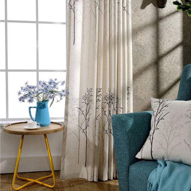 Aliexpress.com : Buy Simple American style traditional curtains living room cheap linen curtains printing casual curtains free shipping from Reliable curtains for picture windows suppliers on Huarlily Import & Export Co., Ltd. (34565)