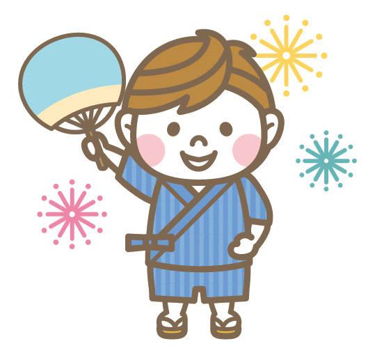 甚平ボーイイラスト/無料イラストなら「イラストAC」 (54191)