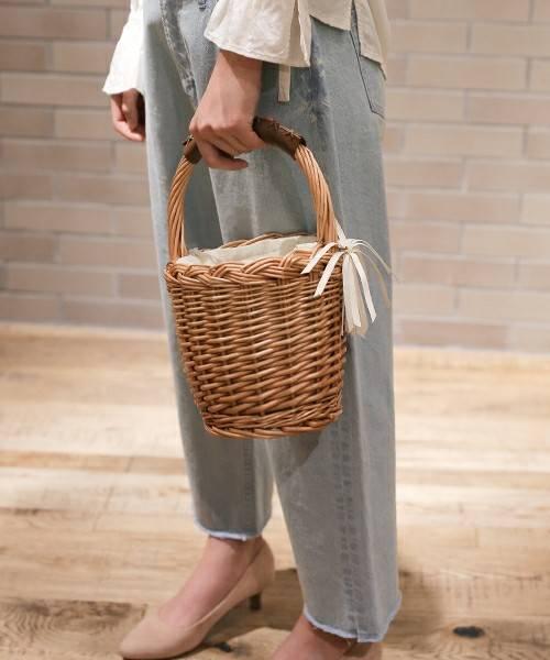 オリジナルバケツ型バスケット【niko and ...】(かごバッグ)|niko and...(ニコアンド)のファッション通販 - ZOZOTOWN (55680)