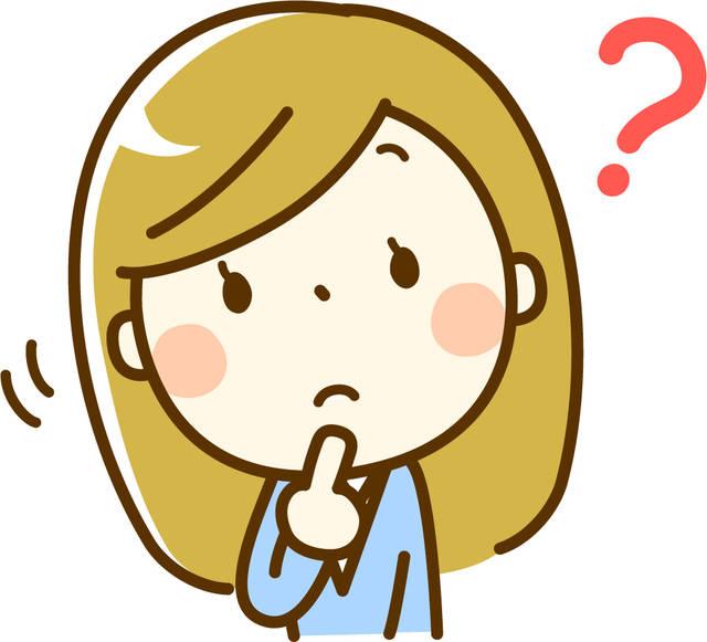 疑問を感じる女性イラスト/無料イラストなら「イラストAC」 (57059)