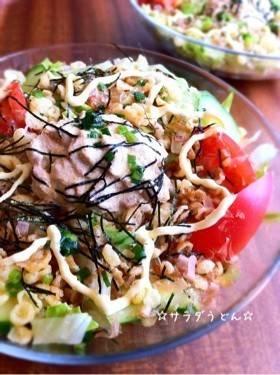 ☆サラダうどん☆ by ☆栄養士のれしぴ☆ [クックパッド] 簡単おいしいみんなのレシピが264万品 (58225)