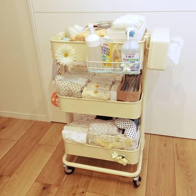 赤ちゃんと暮らす/赤ちゃん用品/無垢の床/収納に悩む/...