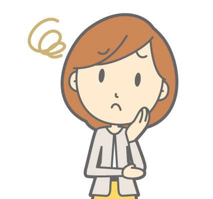 人物OLの女性-困った-バストアップイラスト/無料イラストなら「イラストAC」 (85276)
