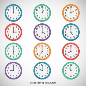 Minimalist clock  Vector | Free Download (96307)