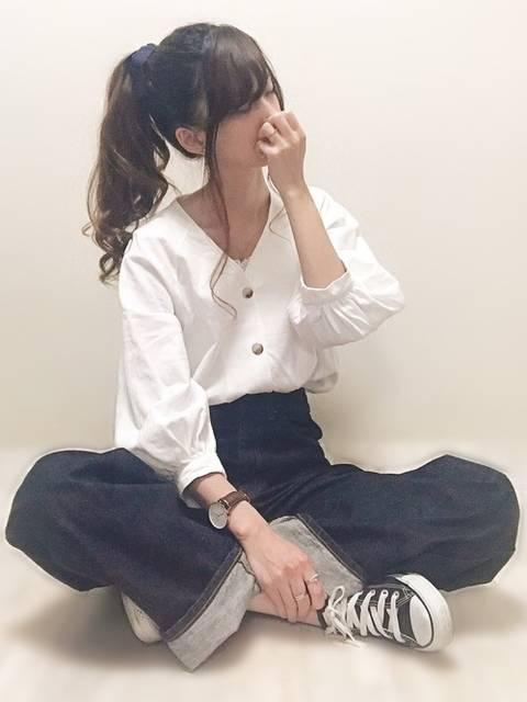 aiko...⋆*|GUのシャツ・ブラウスを使ったコーディネート - WEAR (143395)