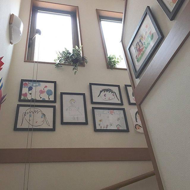 壁/天井/IKEA/フェイクグリーン/モノトーン/子供と暮らす/壁面ディスプレイ...などのインテリア実例 - 2017-05-11 11:59:45 | RoomClip(ルームクリップ) (149096)
