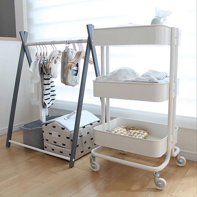 棚/IKEA/収納/インテリア/ハンガーラック/IKEAワゴン...などのインテリア実例 - 2018-07-09 14:44:58 | RoomClip(ルームクリップ) (149500)
