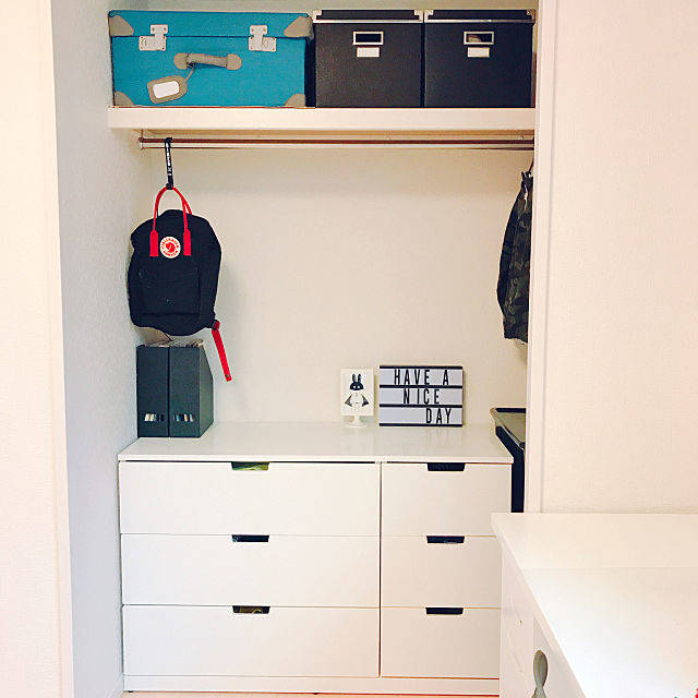 棚/IKEA/子供服収納/NORDLI/IKEA NORDLIのインテリア実例 - 2018-05-03 15:58:09 | RoomClip(ルームクリップ) (150363)