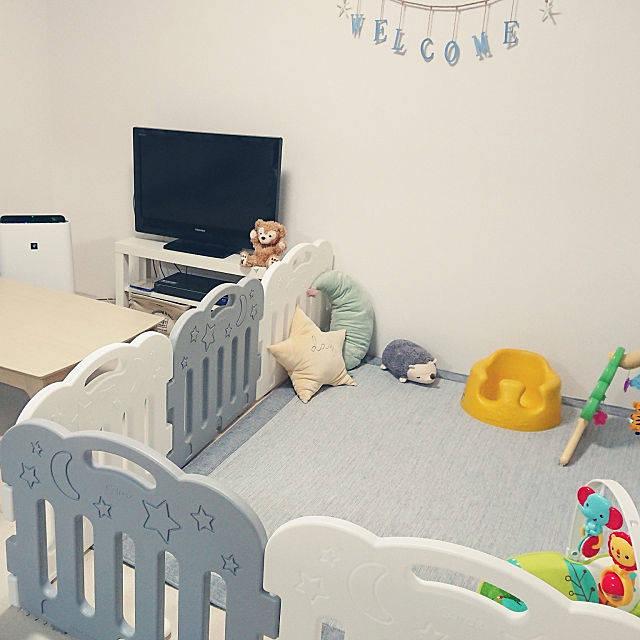 リビング/赤ちゃんのいる部屋/賃貸/2DKのインテリア実例 - 2018-06-02 13:53:01 | RoomClip(ルームクリップ) (152369)