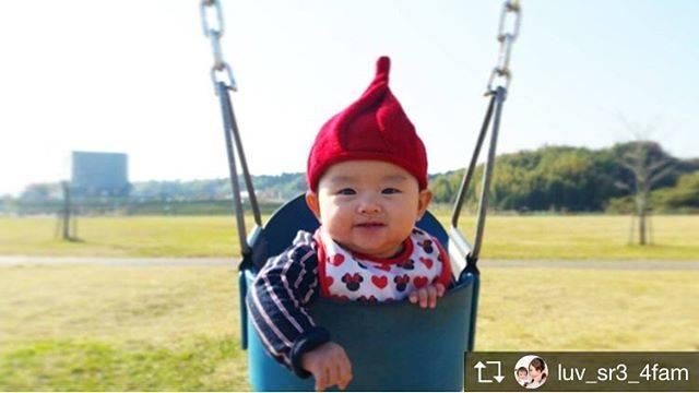 #ブランコ #公園 #小人帽