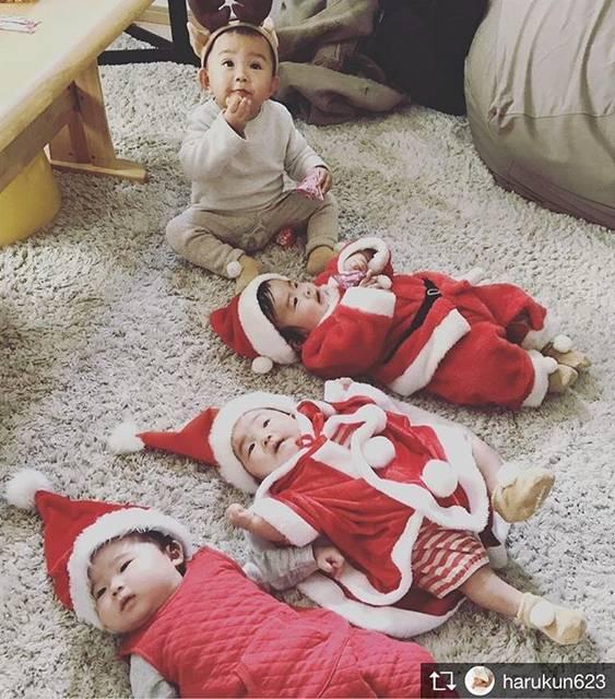 #クリスマス #サンタコス #赤ちゃんサンタ