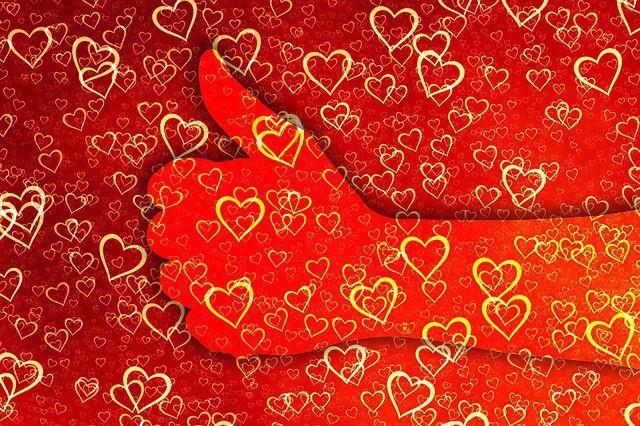 Free illustration: Like, Thumb, Heart, Love, Affection - Free Image on Pixabay - 1638749 (9740)