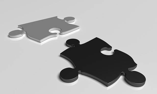 Free illustration: Puzzle, Black, White, Teamwork - Free Image on Pixabay - 1126509 (26248)