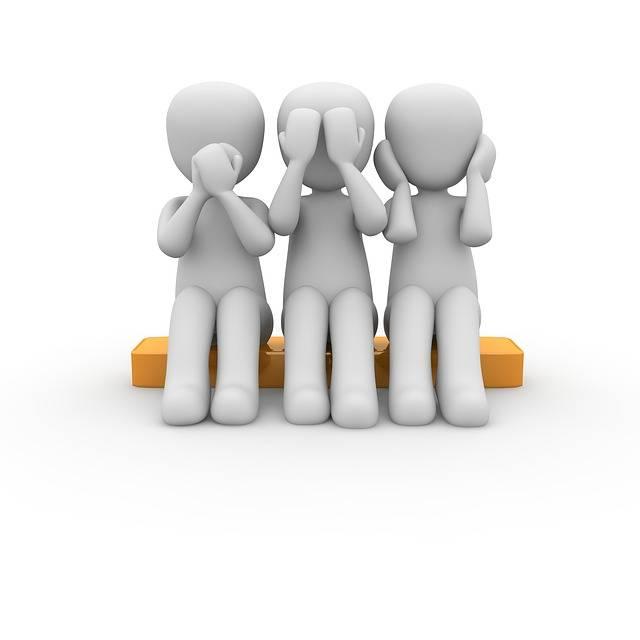 Free illustration: See, Listen, Talk, Group, Not Hear - Free Image on Pixabay - 1020175 (48465)