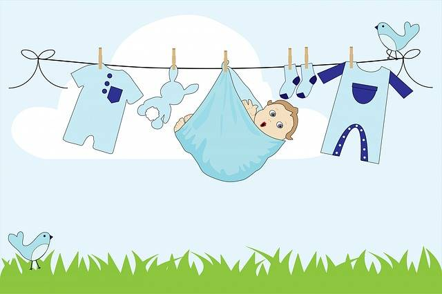 Free illustration: Baby, Boy, Baby Boy, Clothes, Line - Free Image on Pixabay - 220316 (53280)