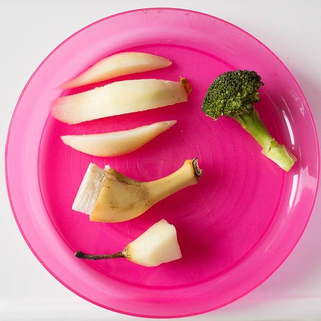 Free photo: Broccoli, Pear, Banana, Pink Plate - Free Image on Pixabay - 767693 (57458)