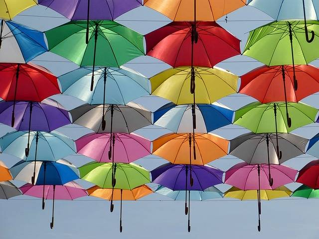 Free photo: Umbrella, Color, Red, Green, Yellow - Free Image on Pixabay - 1521492 (57521)