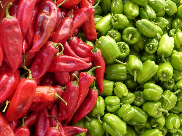 Free photo: Paprika, Green, Red, Vegetables - Free Image on Pixabay - 65270 (60410)