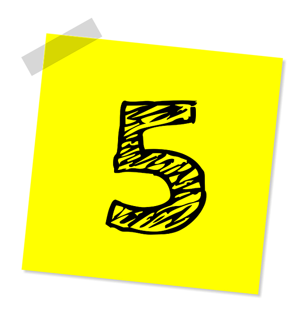 Five 5 Number · Free image on Pixabay (115300)