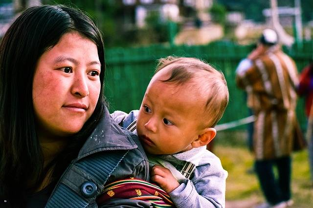 Bhutanese Woman With Kid · Free photo on Pixabay (124256)