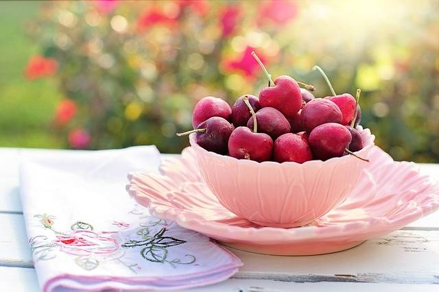 Cherries Bowl Pink · Free photo on Pixabay (137822)