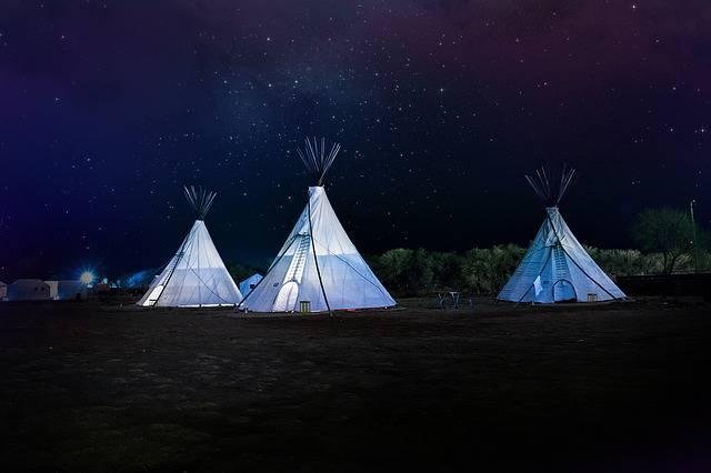Teepee Night Sky Stars - Free photo on Pixabay (142370)