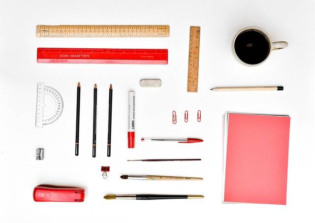 Desk Stationery Organized - Free photo on Pixabay (147366)