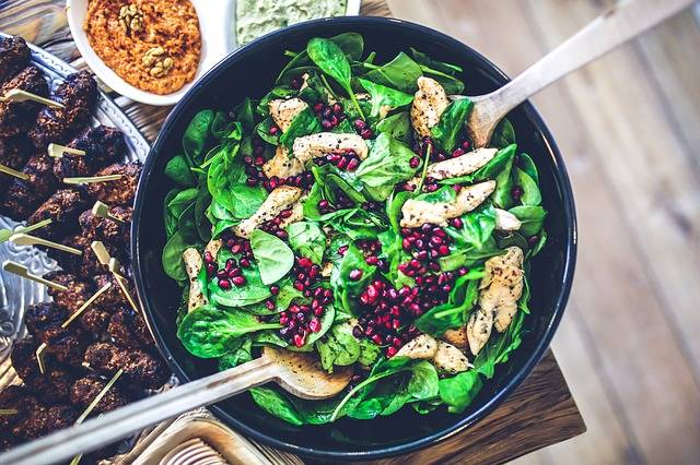 Spinach Chicken Pomegranate - Free photo on Pixabay (149017)
