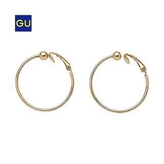GU(GU)メタルフープイヤリング - GU ジーユー (1569)